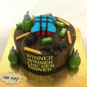 PUBG Winner Chicken Dinner  Birthday Cake
