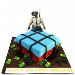 PUBG Theme Cake Designer Birthday Cake
