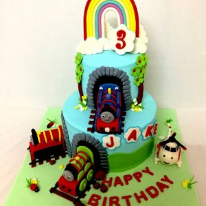 3rd Birthday Cake - Thomas Engine theme