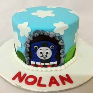 Birthday Cake Nolan- Thomas Engine theme