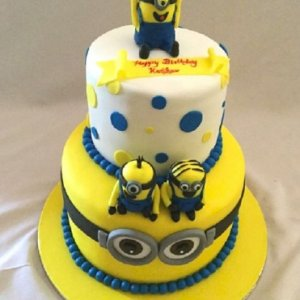 Minion theme Birthday Cake