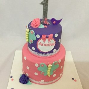 10th Birthday Butterfly theme Cake