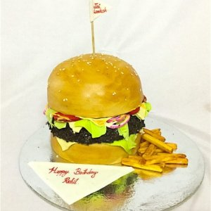 Mcdonalds Burger Theme cake