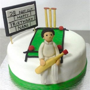 Birthday Cricket theme Cake