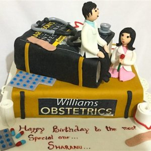 Doctor in Love Birthday Cake