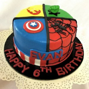 6th Birthday Avengers theme Cake