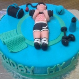 Gym theme Birthday Cake