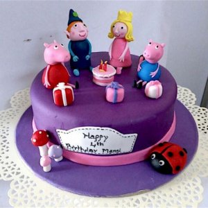 1st Birthday  Ben & Holly theme Cake