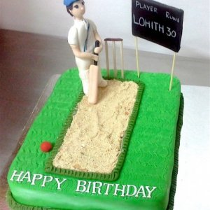 Birthday Cake Cricket theme