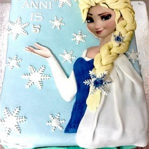 6th Birthday  Frozen theme Cake