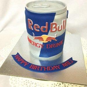 Standing Red Bull Cake