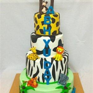 1st Birthday Cake Animal Theme Cake