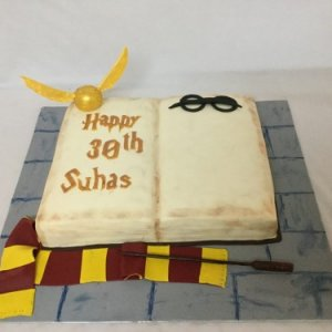 Harry Potter theme Book Cake