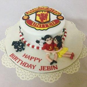 Manchester Romance Birthday Cake