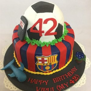 42nd Birthday FCB fan Cake