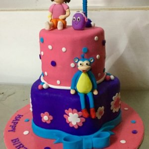 Dora theme Birthday cake