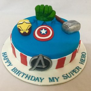 Marvel comics cake