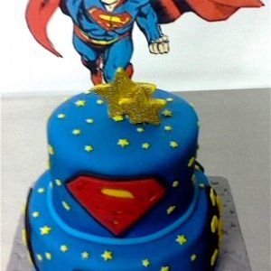 2nd Birthday Superman Theme Cake