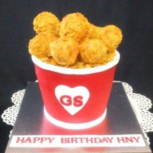Chicken Theme Cake
