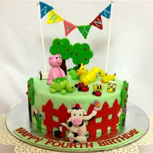 1st Birthday Cake Animal Theme Cake