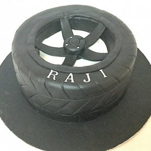 Car Tyre Birthday Cake