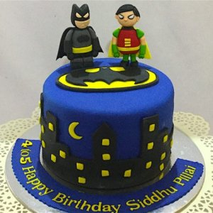 Batman & Robin Birthday Theme Cake