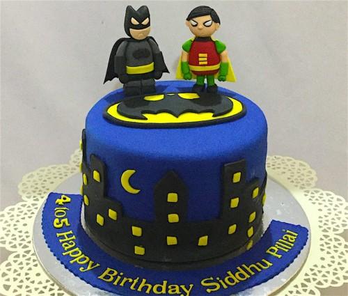 Miraculous Batman Robin Birthday Cake Personalised Birthday Cards Vishlily Jamesorg