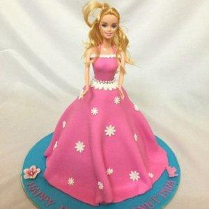 Barbie Theme Birthday Cake