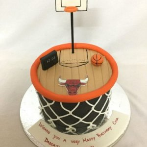Basketball Court Cake