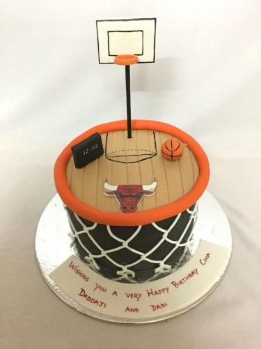 Pleasant Basketball Court Cake Funny Birthday Cards Online Kookostrdamsfinfo