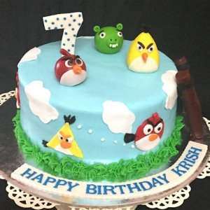 Angry Birds Cake 1.5 kg