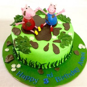 5th Birthday  Peppa Pig theme Cake