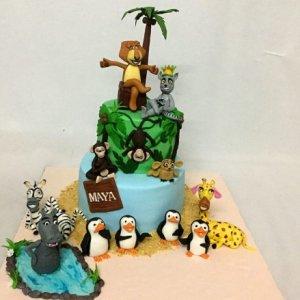 1st Birthday Madagascar Designer Cake