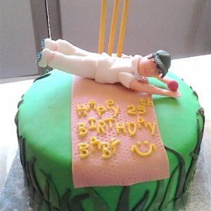 Cricket theme Birthday Cake