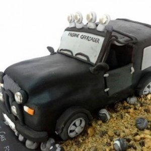 Black jeep Birthday Cake