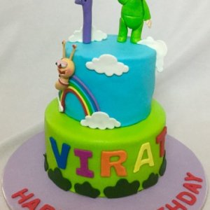 1sh Birthday  Baby TV Series theme Cake