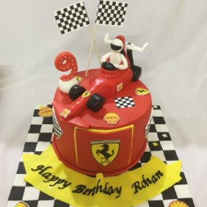 Formula 1 Racing Car Birthday Cake Order Online