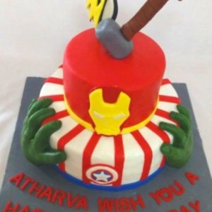 Iron Man 2 tier Iron Man Theme cake2.5kg