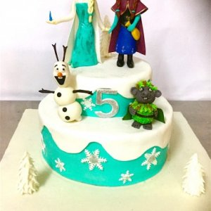 5th Birthday  Frozen theme Cake