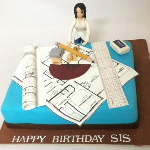 Birthday Cake for Architect Sister