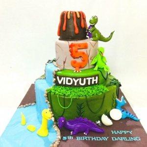 5th Birthday Custom Dinosaur theme Cake