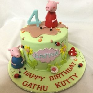 4th birthday Peppa Pig cake for Guttu