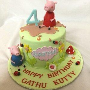 4th birthday Peppa Pig cake for Guttu