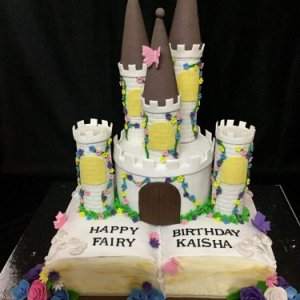 Happy Birthday Book Castle Cake