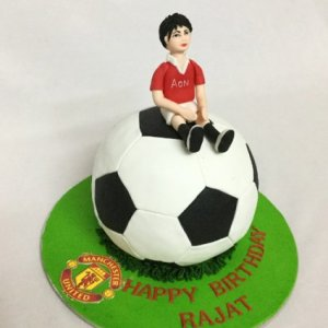 Man on a Football Birthday Cake