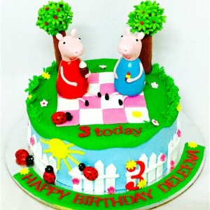 3rd Birthday Peppa Pig theme Cake