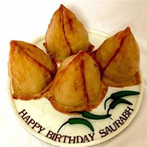 Samosa Theme Cake