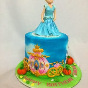 Cinderella theme Birthday Cake