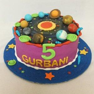 1st Birthday Solar System Theme Cake