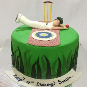 10th Birthday Cricket Cake